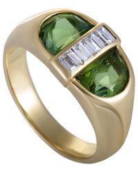 Heritage Tiffany & Co. Tiffany & Co. 18k 0.35 Ct. Tw. Diamond & Peridot Ring - Green