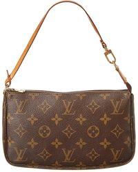 Louis Vuitton Monogram Canvas Pochette Accessoires - Brown