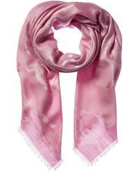 Ferragamo Silk & Wool-blend Scarf - Pink