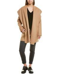 Vince Hooded Wool-blend Coat - Brown