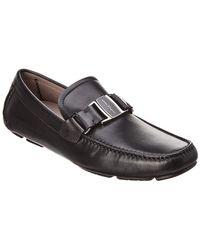 Ferragamo Leather Moccasin - Black