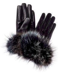 La Fiorentina Leather Gloves - Black