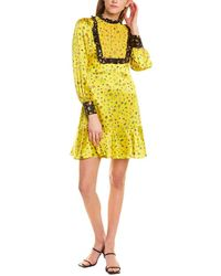 Cynthia Rowley Aiko Lace Trim Prairie Dress - Yellow