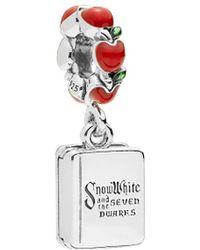 PANDORA Disney Silver Enamel Snow White & The Seven Dwarfs Book Dangle Charm