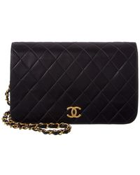 e0a2429a3321 Chanel - Black Quilted Lambskin Small Single Flap Bag - Lyst