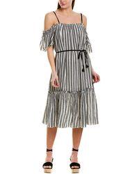 lemlem Shirred Maxi Dress - Black