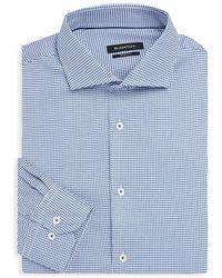 Bugatchi - Shaped-fit Patterned Dress Shirt - Lyst