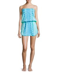 Melissa Odabash - Embroidered Strapless Cover-up - Lyst