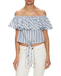 Jill Stuart Bahar Striped Blouse - Blue
