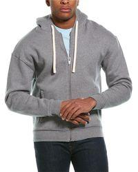 The Kooples Fleece Wool-blend Hoodie - Grey