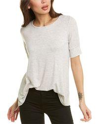 Forte Elbow Sleeve Swing T-shirt - Grey