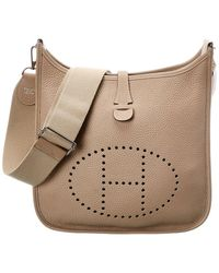 Hermès Neutral Leather Evelyne Iii Pm - Natural