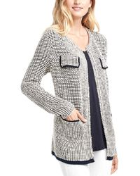 NIC+ZOE Textured Knit Linen-blend Jacket - White