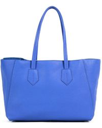 NEELY & CHLOE The Small Leather Tote - Blue