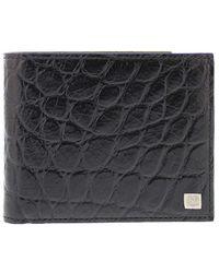 Bruno Magli | Men's Leather Croco Billfold | Lyst