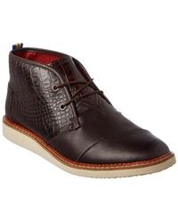 TOMS - Men's Mateo Croc-embossed Leather Chukka Boot - Lyst