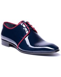 Jared Lang Leather Dress Shoe - Blue