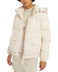 Reiss Paige Side Popper Puffer Top - Natural