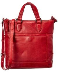 Frye Melissa Small Leather Tote Crossbody - Red
