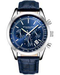 Stuhrling Original Men's Monaco Watch - Blue
