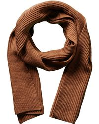 Portolano - Men's Brown Melange Merino Wool Scarf - Lyst