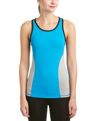 Zobha Tanner Fitted Colorblock Mesh Singlet - Blue