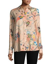 Love Moschino - Rocket Print Blouse - Lyst
