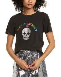 Pam & Gela Concert Linen-blend T-shirt - Black