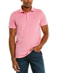 Stone Rose Printed Polo Shirt - Pink