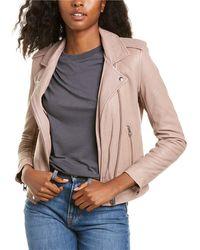 IRO Newhan Leather Jacket - Pink