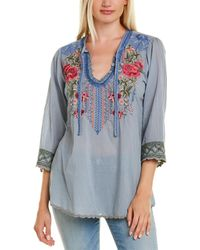 Johnny Was Millie Blouse - Blue