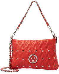 Valentino By Mario Valentino - Vanilled Sauvage Leather Shoulder Bag - Lyst