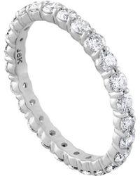 Diana M. Jewels . Fine Jewellery 18k 1.00 Ct. Tw. Diamond Eternity Ring - Metallic