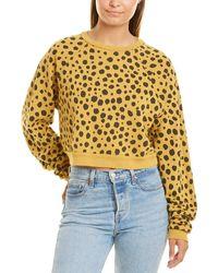 LNA Main St. Crop Sweatshirt - Yellow