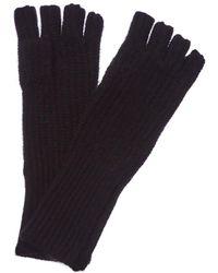 White + Warren - Fingerless Long Shaker Cashmere Gloves - Lyst