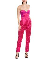 MILLY Corset Jumpsuit - Purple