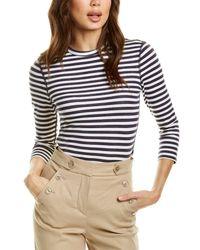 Three Dots Nantucket Stripe T-shirt - White