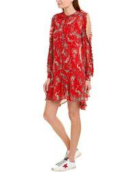 The Kooples Moonlight Silk Shift Dress - Red