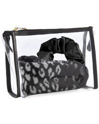 Shiraleah Lexington Travel Gift Set ( Socks, Scrunchie And Zip Pouch) - Black