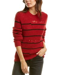 IRO Cleon Alpaca & Wool-blend Pullover - Red