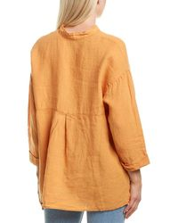 XCVI Adean Linen Top - Orange