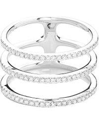 EF Collection 14k 0.38 Ct. Tw. Diamond Triple Spiral Ring - Metallic