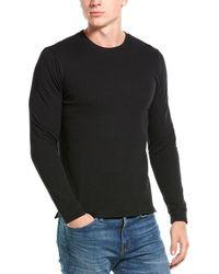 Vince Double-knit Crewneck Jumper - Black