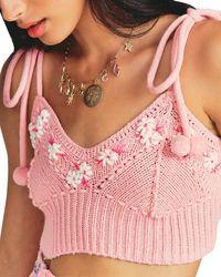 LoveShackFancy Daytime Bloom Wool-blend Jumper - Pink