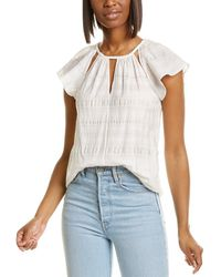 Rebecca Taylor Plaid Silk-blend Top - White