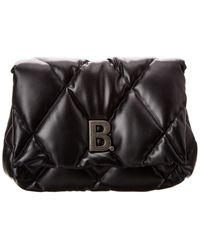 Balenciaga Torch Quilted Leather Clutch - Black