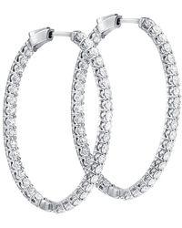Diana M. Jewels . Fine Jewellery 18k 1.40 Ct. Tw. Diamond Hoops - Multicolour