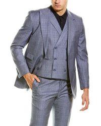 English Laundry 3pc Vested Suit - Blue