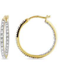 Rina Limor 0.25 Ct. Tw. Diamond Hoops - Yellow