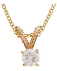 Effy - Fine Jewelry 14k 0.16 Ct. Tw. Diamond Necklace - Lyst